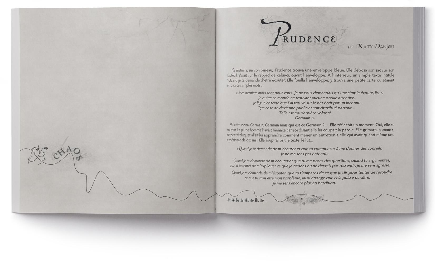 Claquement d'Aile - Page Design